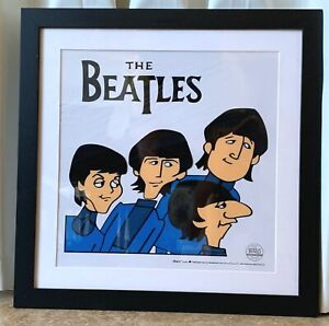 """THE BEATLES FRAMED SERICEL """"BEATLES POSING"""" with Certif of Authenticity"""