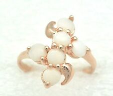 Anelli di lusso con gemme bianco misura anello 18