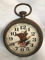 Vintage Welby 1776  American Eagle Plastic Clock - Working