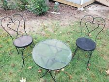 Patio Furniture With Chairs Bistro Set Vintage 3pcs