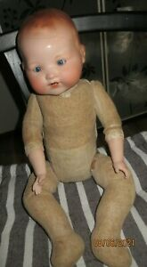 ANTIQUE/EARLY ARMAND MARSEILLE DREAM BABY WEIGHTED EYES PORCELAIN HEAD/HANDS