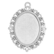 30 Pendentifs Support de Camée Cabochon Creux Ovale Bijoux Création 4x3cm