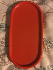 """Tupperware Vintage Replacement Lid 1616 Paprika Oval Modular Mate Lid 7"""" x 3.5"""""""