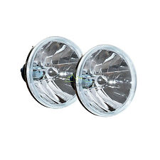 "LAND ROVER DEFENDER CRYSTAL CLEAR 7"" WIPAC HEADLAMPS (X2) HALOGEN RHD RTC4615CW"
