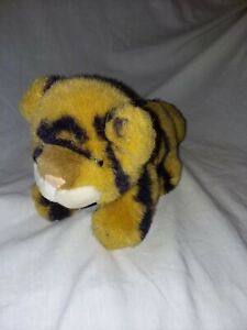 Cute Vintage 1988 Dakin Plush Kenya Tiger Cub Stuffed Animal Toy baby cat 10""