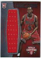2015-16 Panini Totally Certified Red RC Jumbo Jersey /199 Bobby Portis Bulls