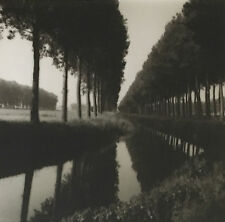 Lynn GEESAMAN: Canal, Brugge to Damme Road, Belgium, 1989 / SILVER / SIGNED!