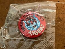 1960s LSU Tigers Football Pin with original wrapper