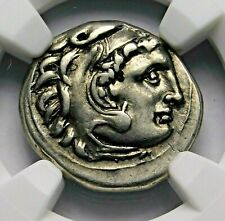 NGC Ch VF. Alexander the Great. Stunning Drachm. Ancient Greek Silver Coin.