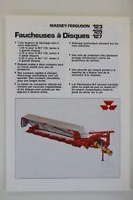 prospectus Massey ferguson faucheuse à disques MF 123 125 127 tracteur tractor