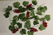 Best Artificial 180cm 6ft Ivy Red Grape Garland Hanging Vine String Plant decor
