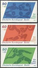 Germany 1980 Sports Fund/Javelin/Athletics/Water Polo/Weightlifting 3v (n27515)