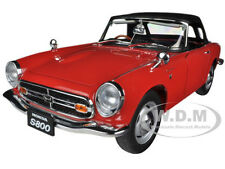 1966 HONDA S800 ROADSTER RED 1/18 DIECAST CAR MODEL BY AUTOART 73276