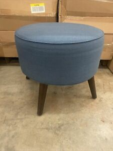 Project 62 Riverplace Round Ottoman Slate New In Box