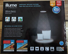 Illume 300mm Square Solar Powered Skylight Silver No Heat Shaftless LED DIY