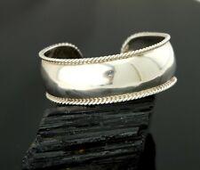 Vtg Sterling Silver Taxco Southwestern Braided Border Cuff Bracelet