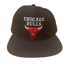 Chicago Bulls NBA Adidas Vintage Retro Snapback hat cap All Black New
