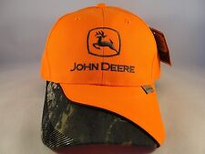 John Deere Adjustable Strap Hat Cap Orange Camo