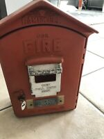 Antique Gamewell Fire Alarm Station Call Box with Original Inners and Paint