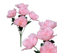 "Lot of 120 Pink Peony 12"" Bush Wedding Bridal Home Decor Craft Silk Flower New"