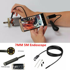 5M 7mm Car Endoscope HD 2IN1 USB Camera 6Led Android Endoskop Inspection Camera