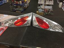FOR FORD FOCUS MK1 1998-2004 REAR TAIL LIGHTS CHROME CLEAR LOOK