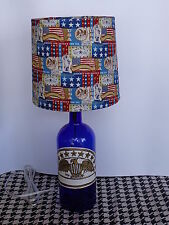 Folk Art/By Artist Table/Desk Lamp (Hand-Painted Eagle on Bottle & USA Shade)