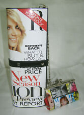 "VINT. OLIVIA MILLER ""BRITTANY SPEARS"" MAGAZINE COVER CLUTCH/SHOULDER BAG + COIN"