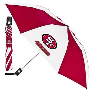 NEW San Francisco 49ers Football Licensed Automatic Umbrella w/ push button