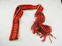 """Vintage Navajo Ceremonial Hand Woven Spun Wool Fringed Sash Wrap Belt 101"""""""