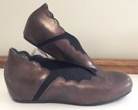 ZIERA Bronze Brown Flats Sz 7 EU 38 Stylish Supportive Comfort Orthotic suitable