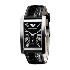 Emporio Armani Black/Silver Quartz Analog Men's Watch AR0143