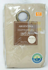 """Argentina Room Darkening 63"""" Grommet Window Curtain Panel In Linen"""