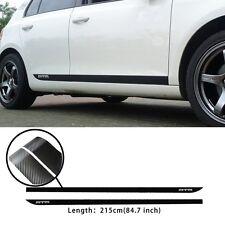 2PCS MTM Graphics Evil Rabbit The Side Door Carbon Fiber Vinyl Car Sticker Decal