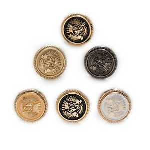 5pcs Round Carved Enamel Metal Buttons Sewing for Clothing Crafts Gifts 15-25mm