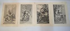 Vintage Paper Lythographies Chrisitian Copper Engraving Images The Four Apostles