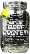 MuscleTech Platinum 100% Beef Protein, Ultra-Pure Hydrolyzed Be