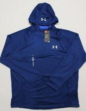 Men's Under Armour Cold Gear Tech Terry Popover Hoodie (1289697-997) Blue - 2XL