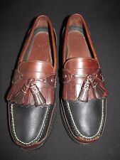Neil M Black Brown Leather Tassel Loafer Driver Causal Comfort Shoes Men's 9.5M
