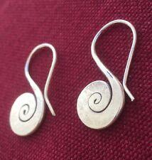 Tibetan-Style Sterling Silver Earrings w/ Yin Yang Motif