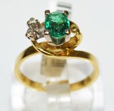 Cubic Zirconia Yellow Gold 18k Engagement Rings