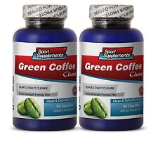 Pure Green Coffee Bean - Green Coffee Cleanse 400mg - Supreme Fat Burner Caps 2B