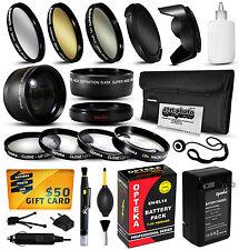Cargador De Batería Accesorios 52mm Filtros para Nikon DF D5100 D5200 D5300
