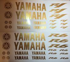 YAMAHA r1 o r6 in oro Motorsport Adesivo Set RACING PER MOTO AUTO