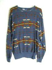 POLO RALPH LAUREN Indian Motif Sweater Southwest Size L - multi color
