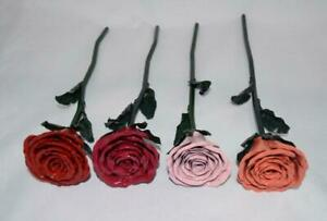 Handmade Custom Painted Welded Steel Forever Metal Rose Flower Art Romantic Gift
