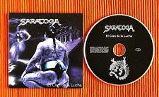 SARATOGA - EL CLAN DE LA LUCHA  PROMO CD Rare 2004 Card sleeve   Spanish edition