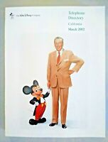 Walt Disney Company Telephone Directory Disneyland California March 2002 - Mint!