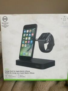 BELKIN VALET CHARGE DOCK FOR APPLE WATCH & IPHONE CHARGING STATION - BLACK