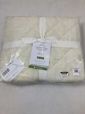 NEW Pottery Barn Belgian Flax Linen Diamond Quilted KING Sham, Ivory